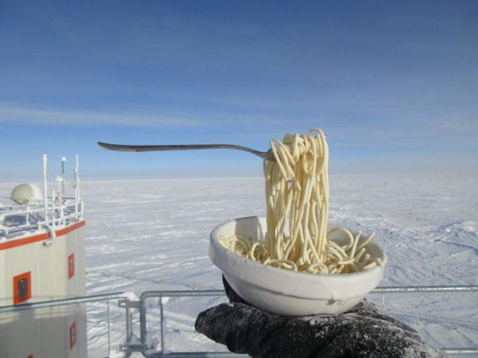 Mangiare in Antartide